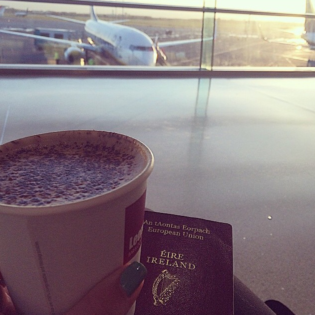 Dublin Airport coffee flight