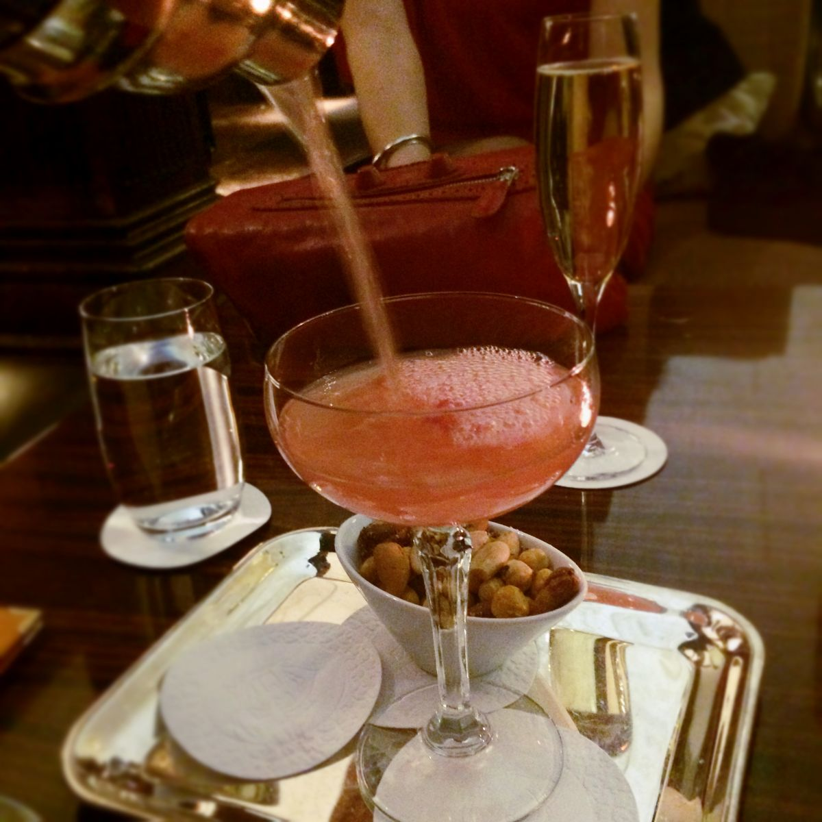 Spiced cocktail at the Cadier bar, Grand Hotel Stockholm
