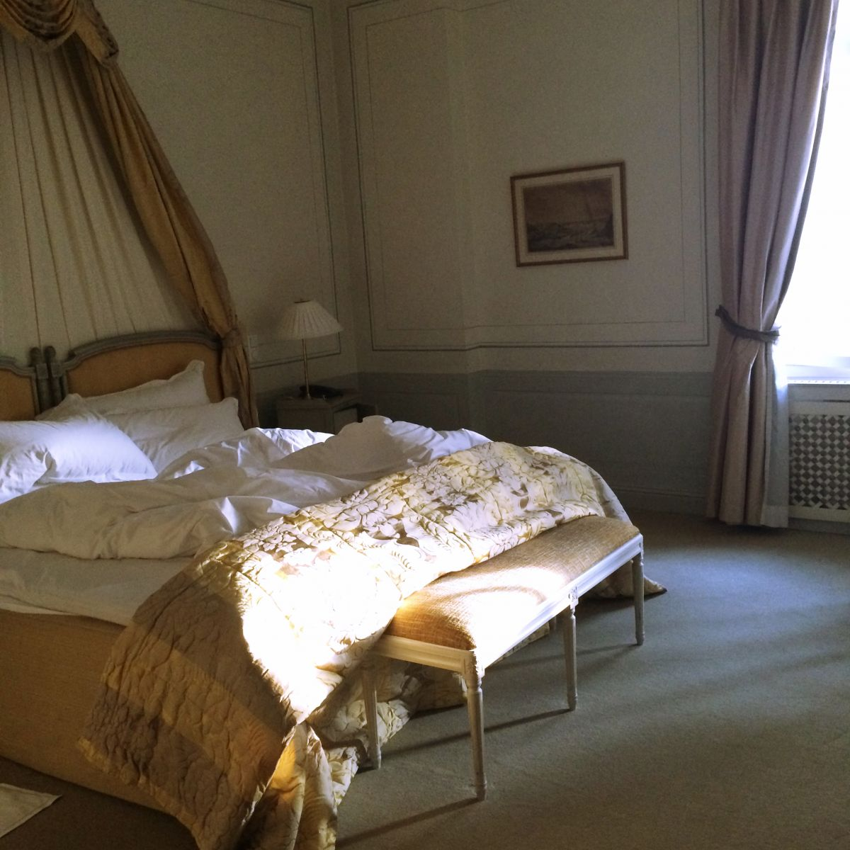 Bed at the Grand Hotel Stockholm