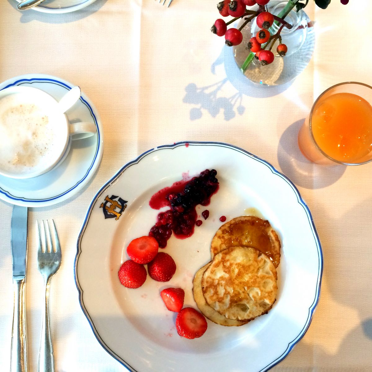 Breakfast at the Grand Hotel Stockholm