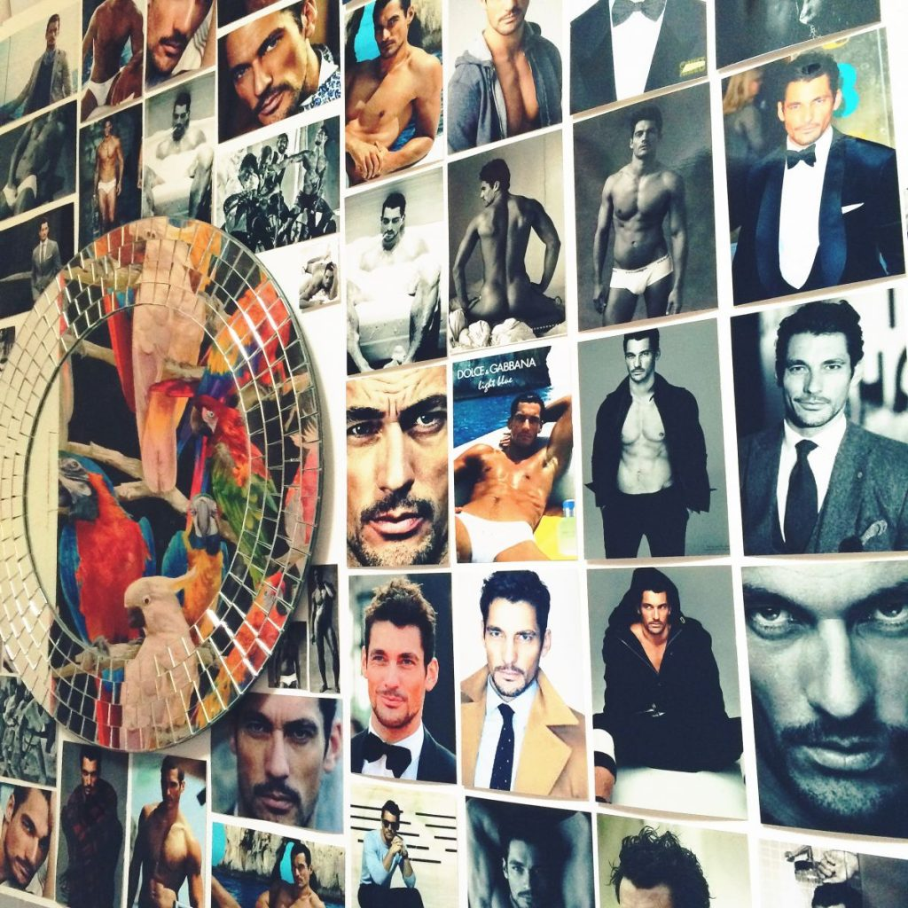 David Gandy wall Tropical Popical nail salon