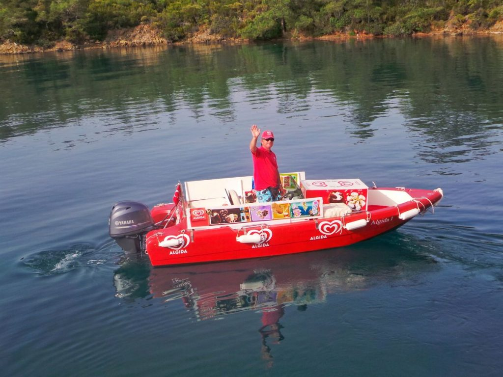 Ice Cream Boat delivery service