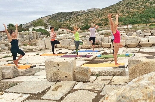 Yoga Dionysos temple Turkey