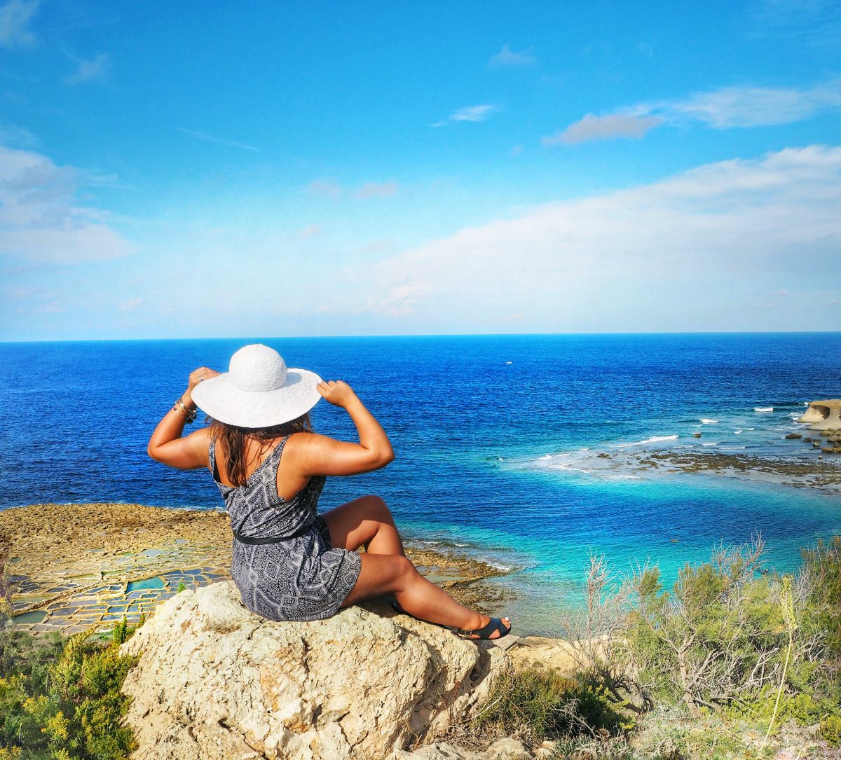 Nadia El Ferdaoussi the daily self Travel Blogger Writer Gozo Malta