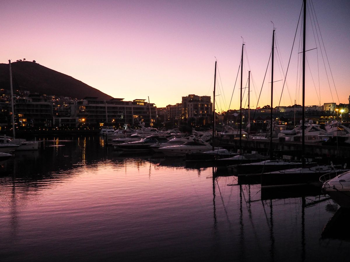 Best places to visit in 2016 Nadia El Ferdaoussi travel blogger and writer Cape Town South Africa Dusk at The Cape Grace Hotel V&A Waterfront