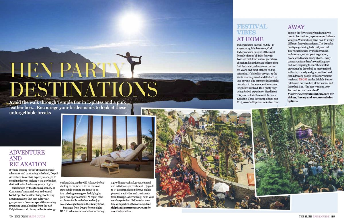 Nadia El Ferdaoussi travel writer Irish Bride Guide Xpose Magazine Hottest Hen Party Destinations