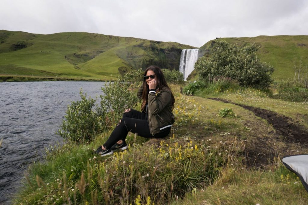 Iceland in summer weather temperature holidays Nadia El Ferdaoussi thedailyself.me travel blogger photo shoot editorial fashion behind the scenes vik black sand beach