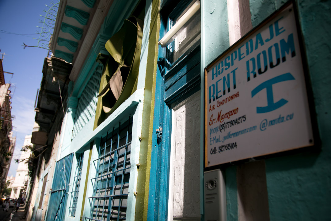 Casa Particular door sign Havana Cuba