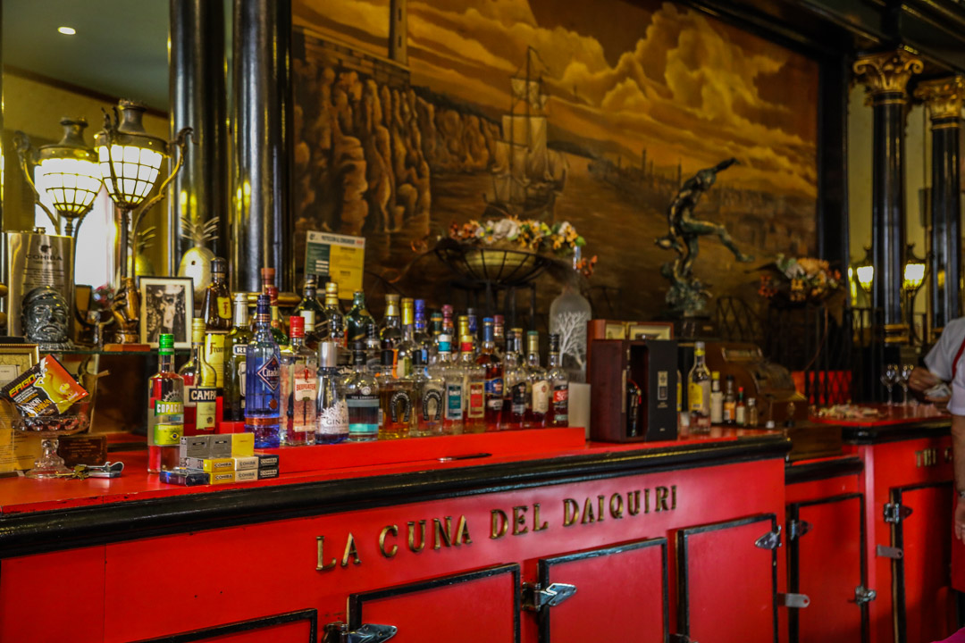 Floridita bar in Havana. Original daquiri