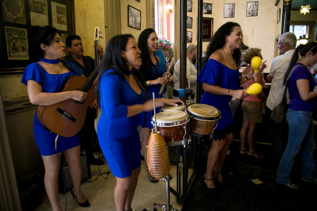 Live band playing at Floridita bar in Havana