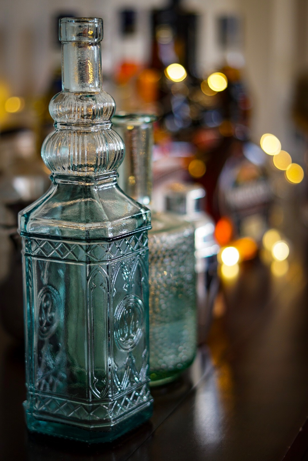 TK Maxx homeware glass bottle and cocktail shaker home bar
