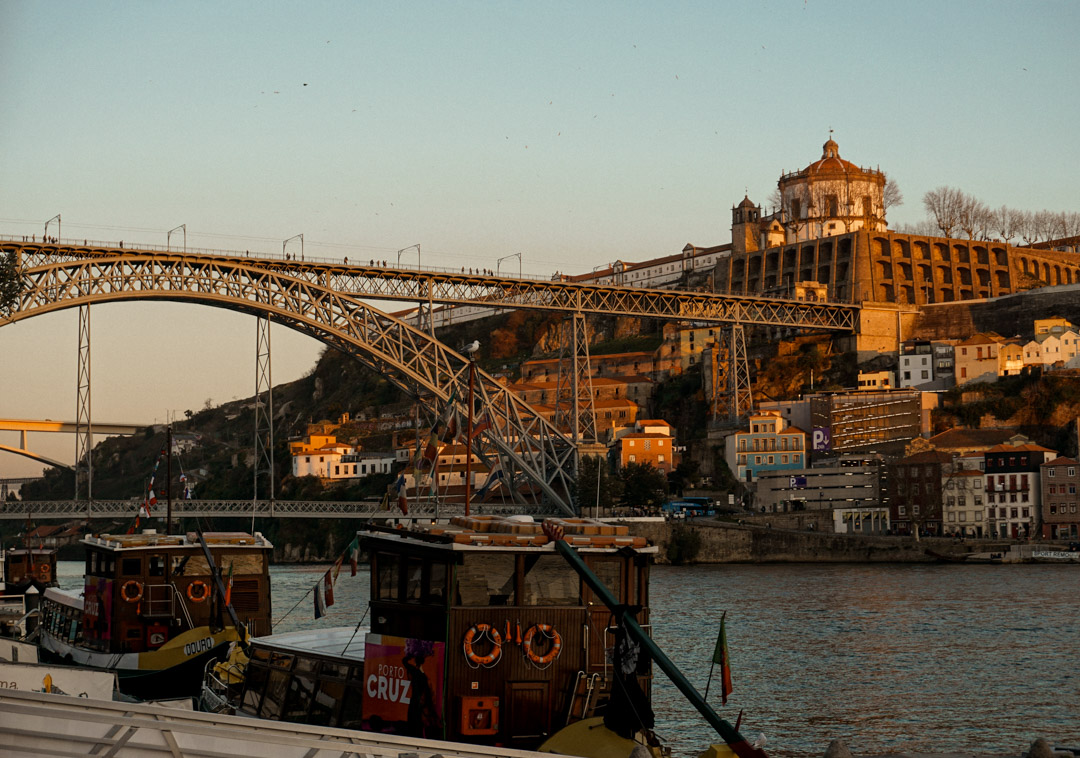 Douro River Porto Dom Luis Bridge