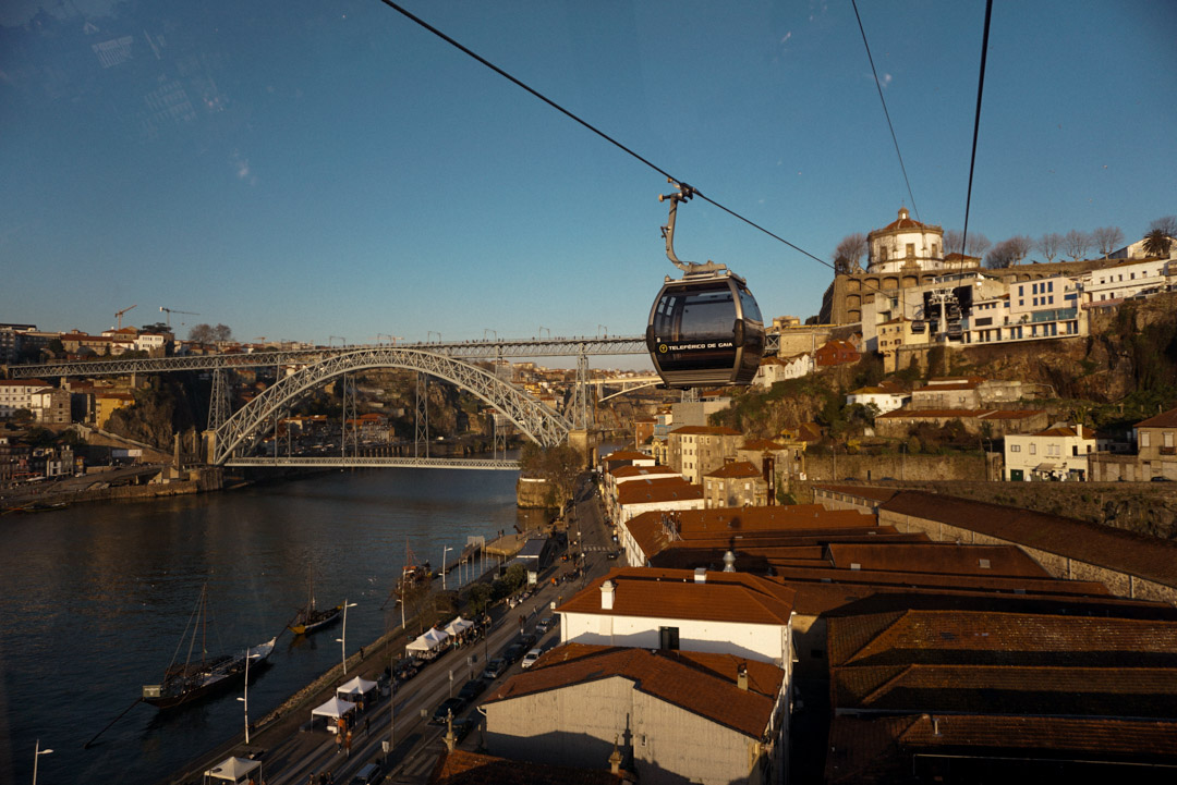 Gaia cable car Porto Douro river