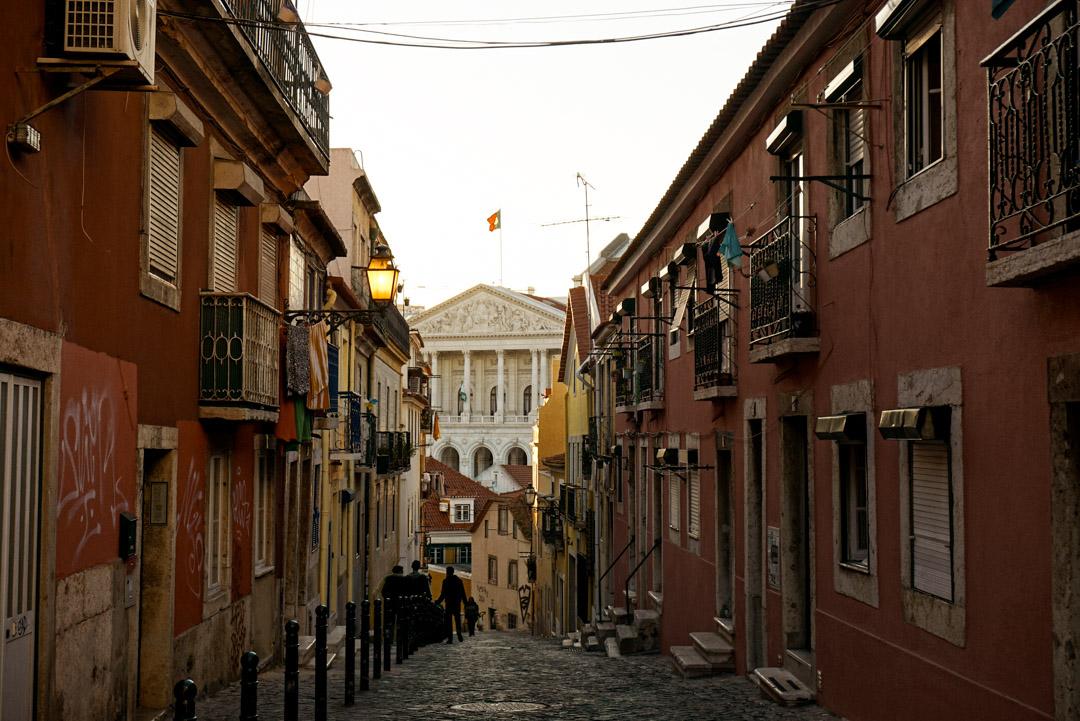 Lisbons cobblestone streets
