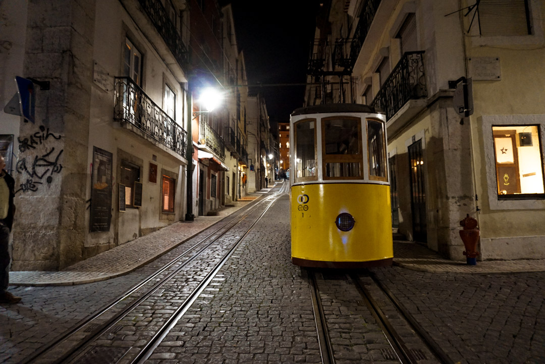 Lisbon streets and trams