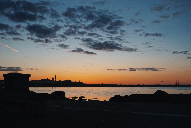 Sunset swim Sandycove 40 foot Dun Laoghaire Dublin Irish sea swim
