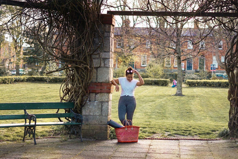 Nadia El Ferdaoussi outdoor yoga Dartmouth Square Ranelagh Dublin 6