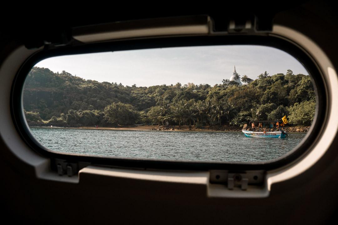 Cabin porthole G Adventures Southern Sri Lanka sailing tour