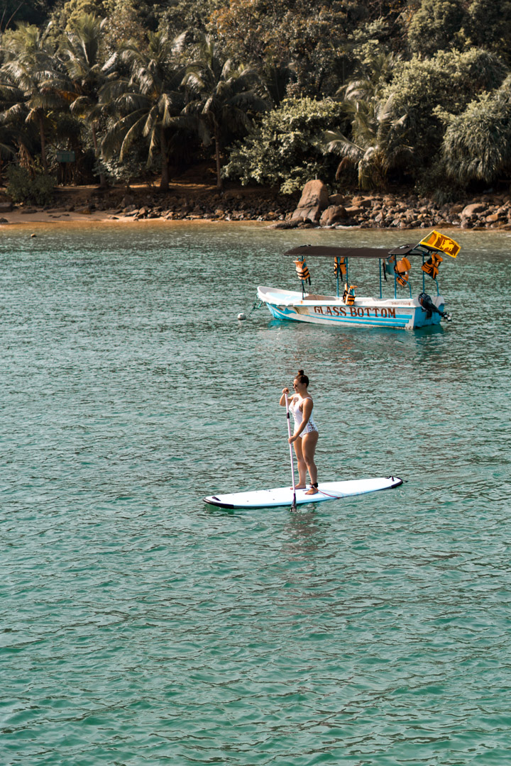 Stand up paddle boarding SUP Sri Lanka South Coast sailing G Adventures