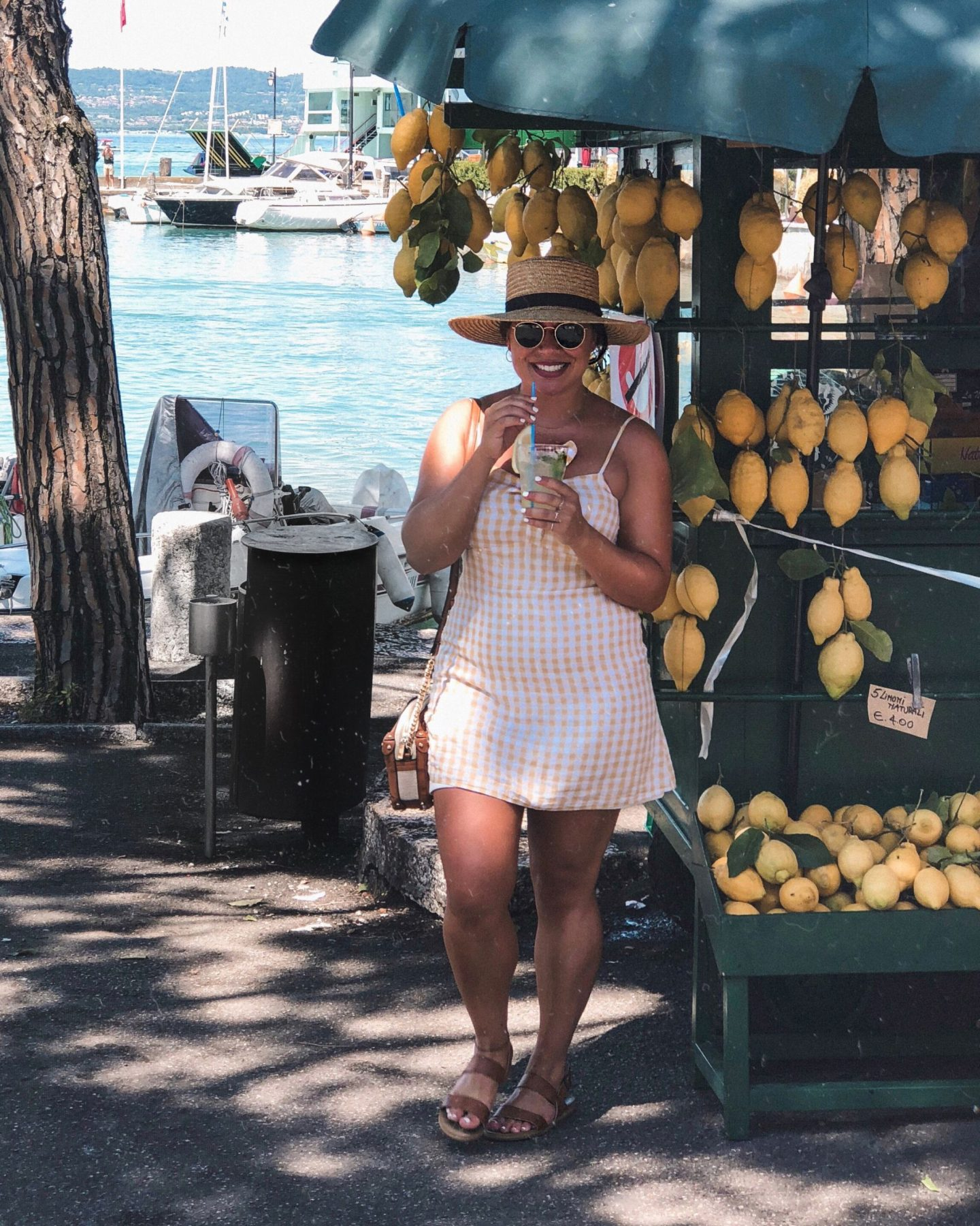 Lemonade Lake Garda Guide Nadia El Ferdaoussi at Sirmione