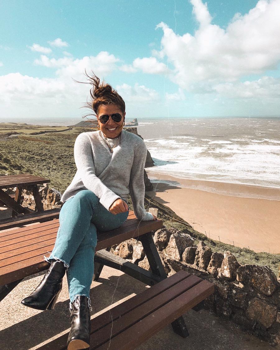 Nadia El Ferdaoussi Rhossilo Beach Swansea Bay