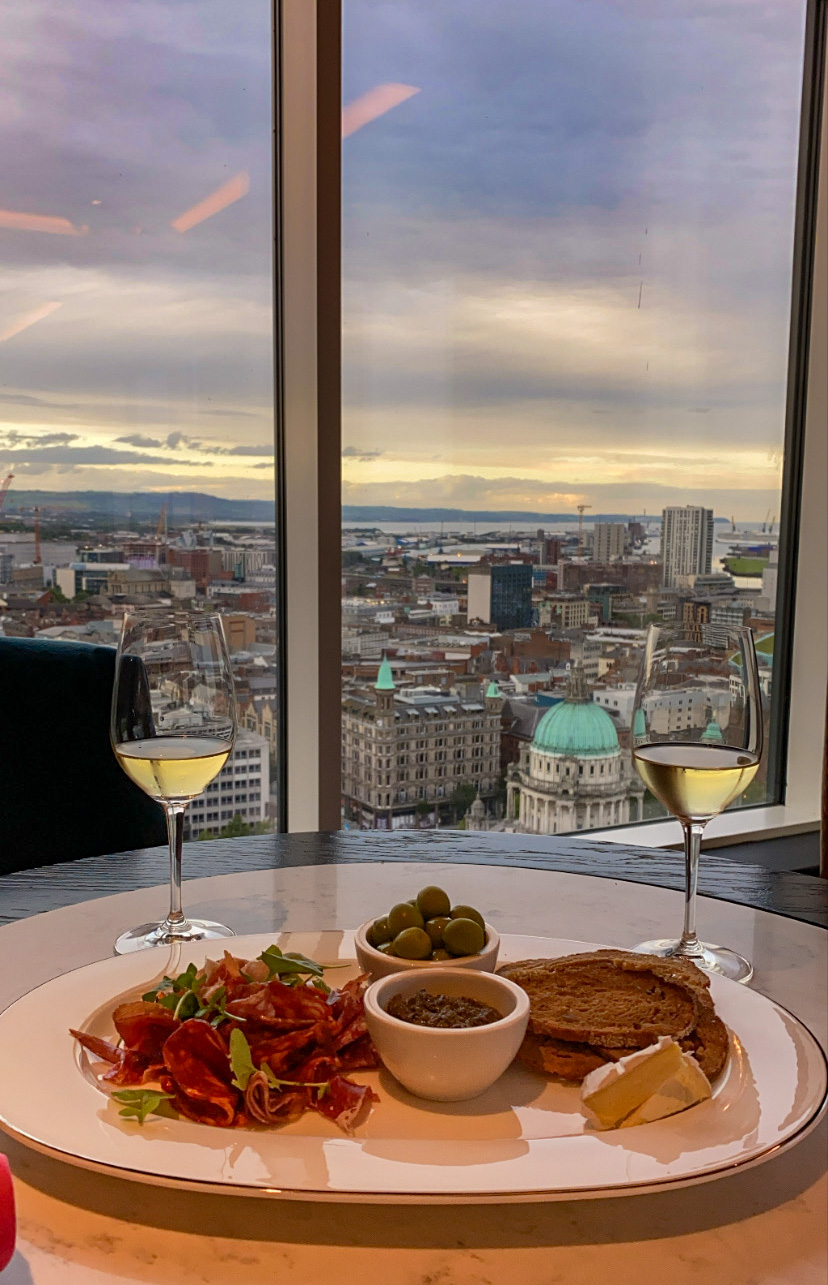 Food and drink with a view in Belfast