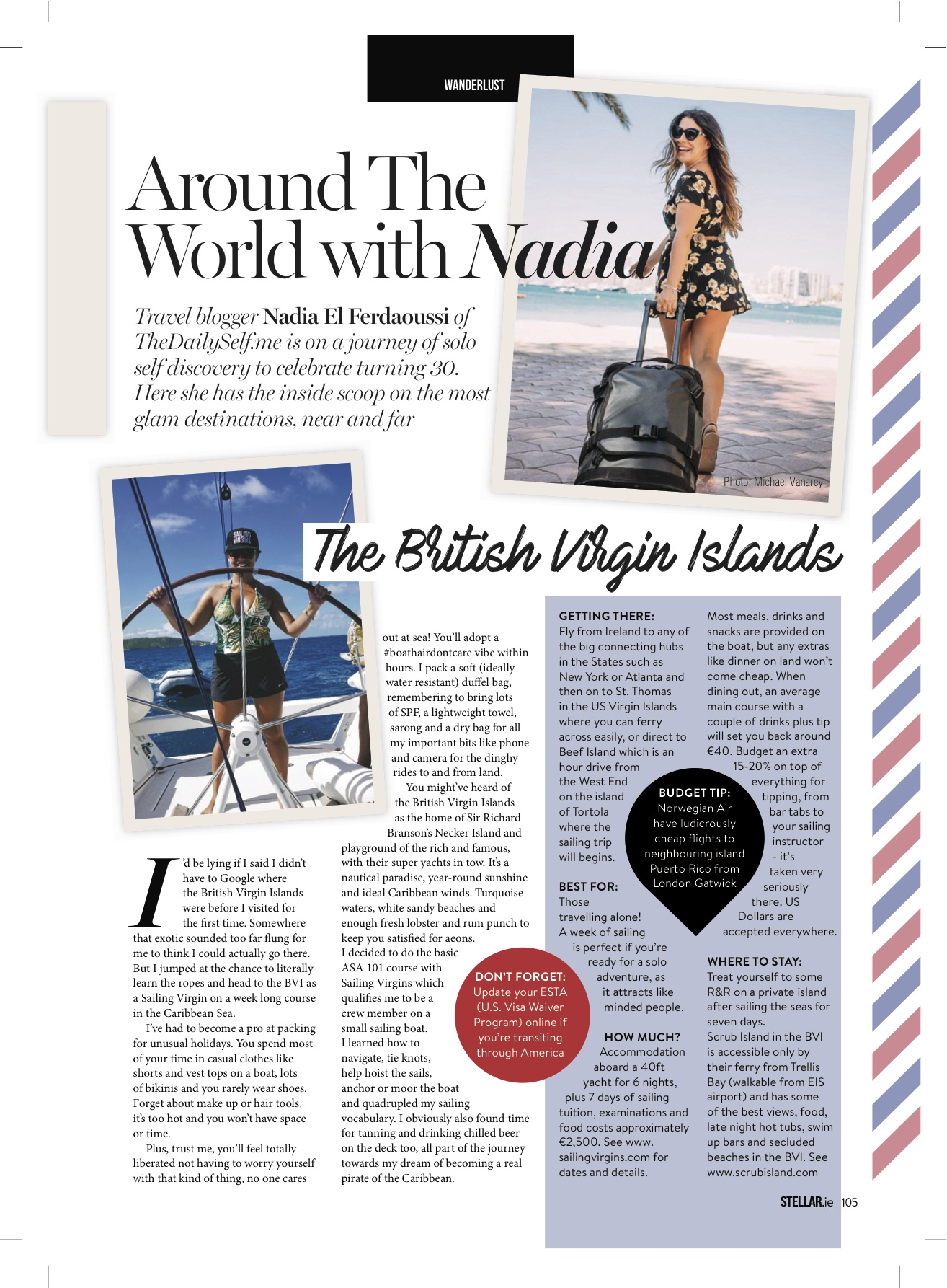 Nadia El Ferdaoussi Stellar Magazine British Virgin Islands BVI Sailing Virgins Travel Writer