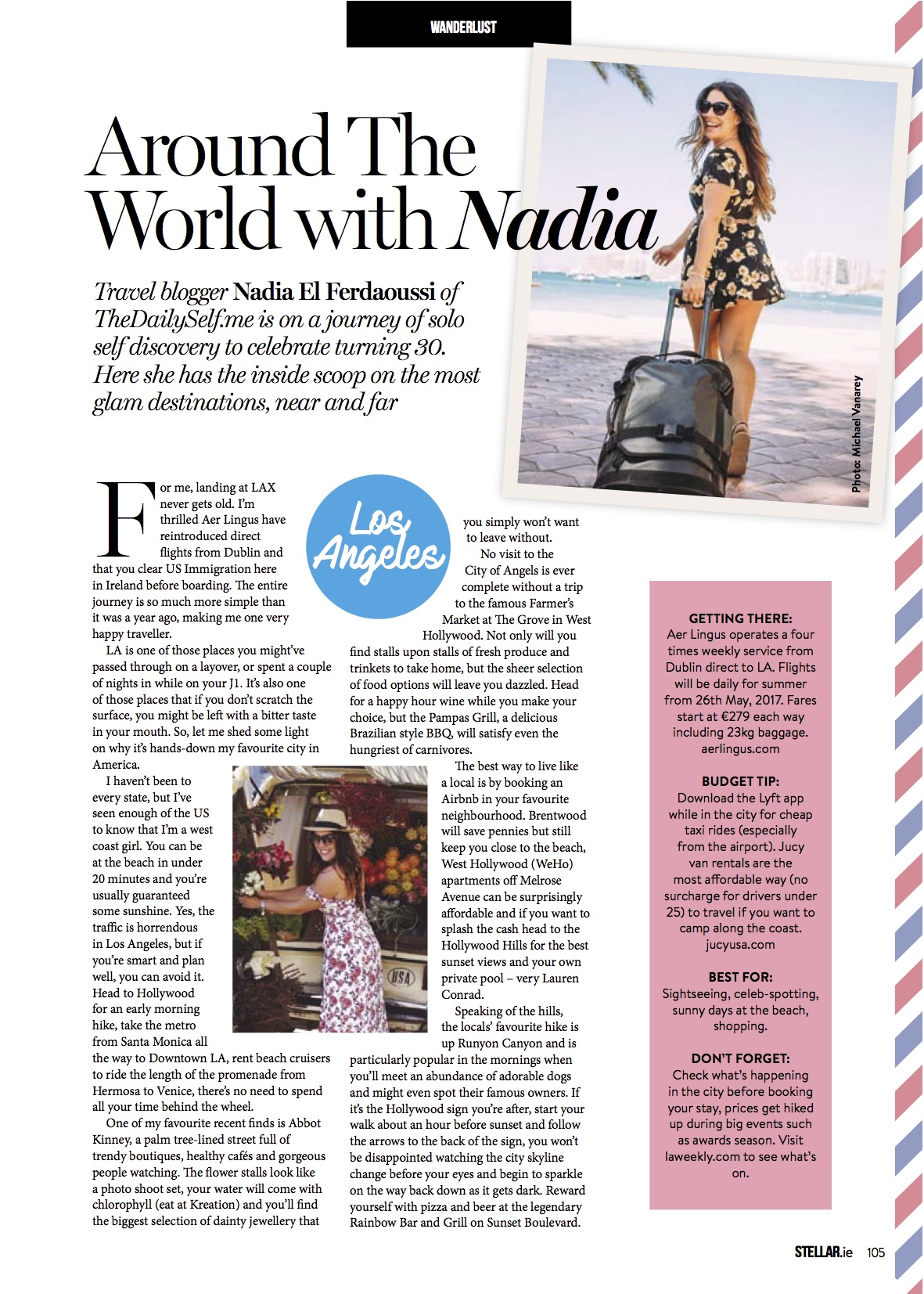 Nadia El Ferdaoussi Stellar Magazine Los Angeles California LA Travel Writer