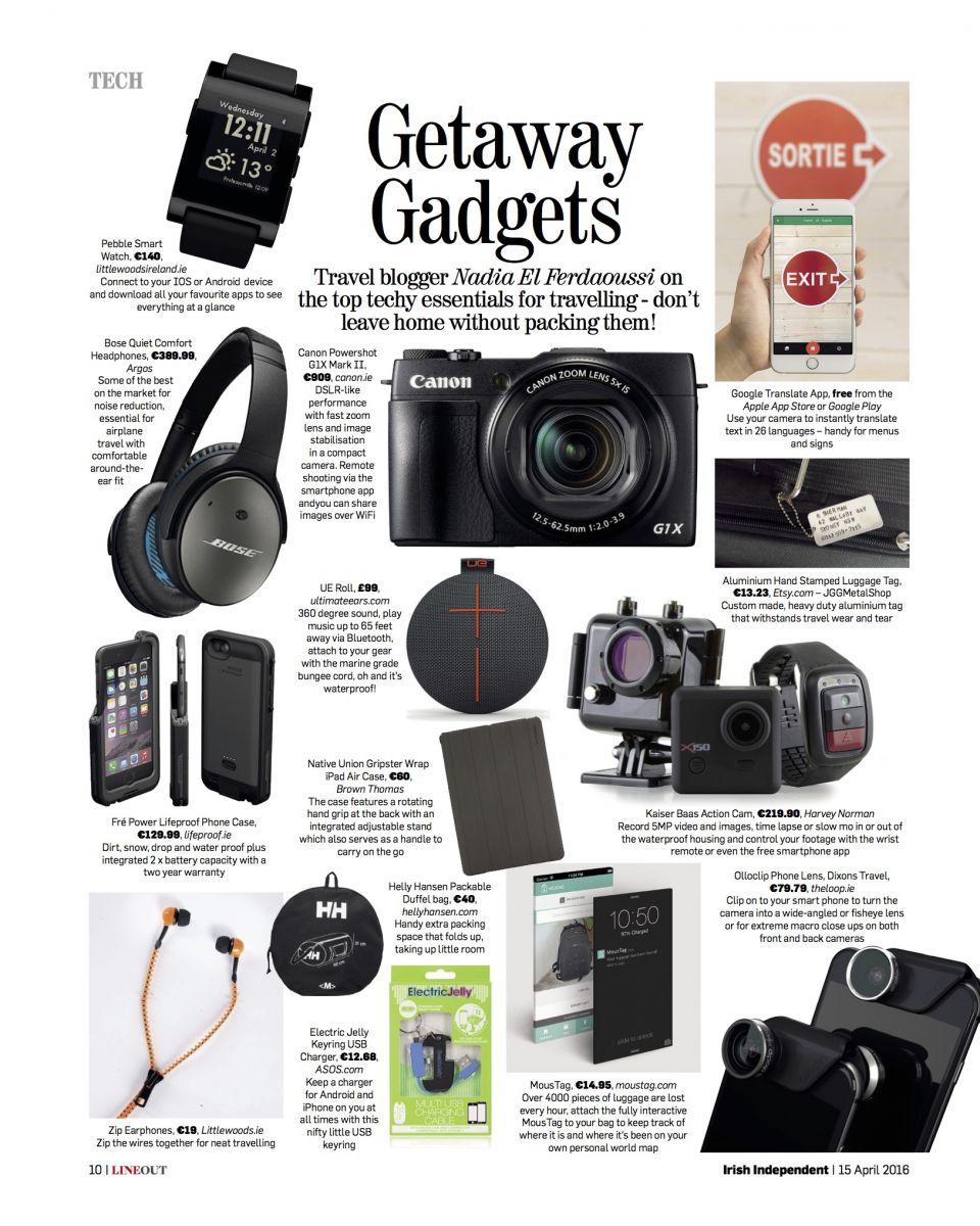Line Out Getaway Gadgets Irish Independent Travel Nadia El Ferdaoussi