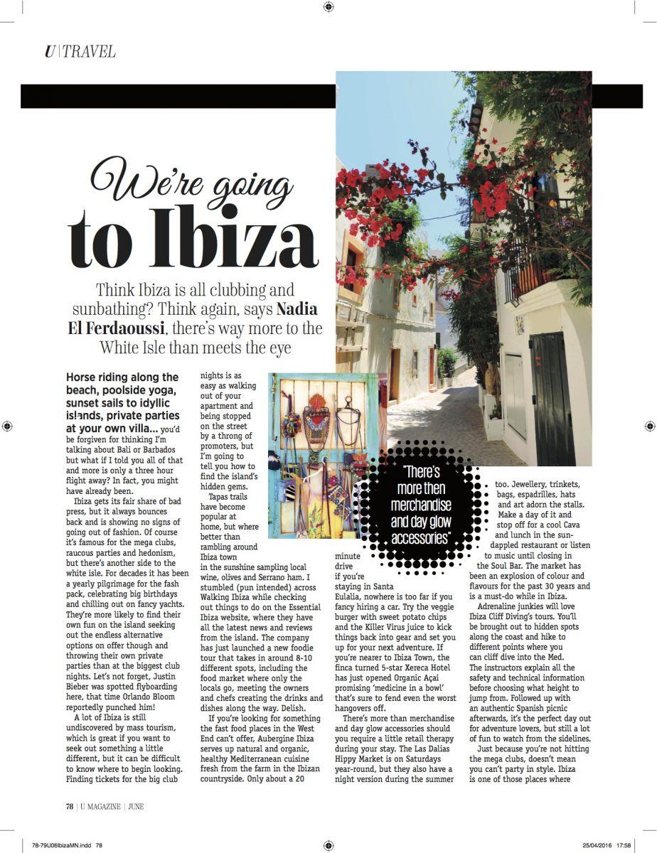U mag Ibiza Nadia El Ferdaoussi Essential Ibiza FOrmentera Smart Charter