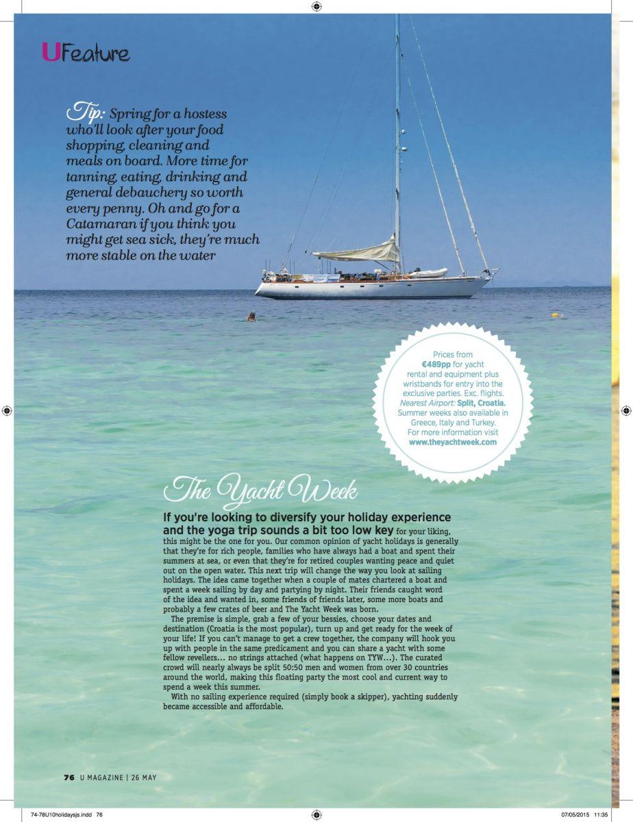 Nadia El Ferdaoussi Travel writer and blogger U Magazine the yacht week