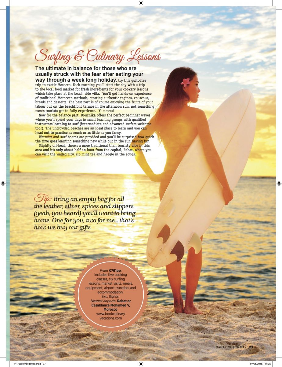 Nadia El Ferdaoussi Travel writer and blogger U Magazine Morocco surf