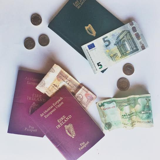 Passport currency Money saving travel tips:
