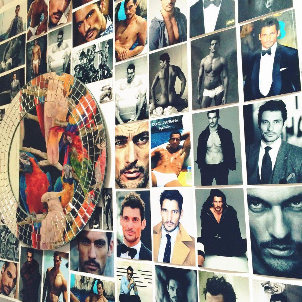 David Gandy wall Tropical Popical nail salon