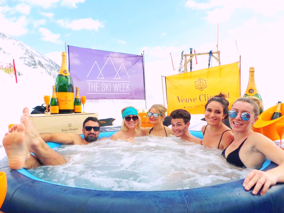 The Ski Week Veuve Clicquot Hot Tubz