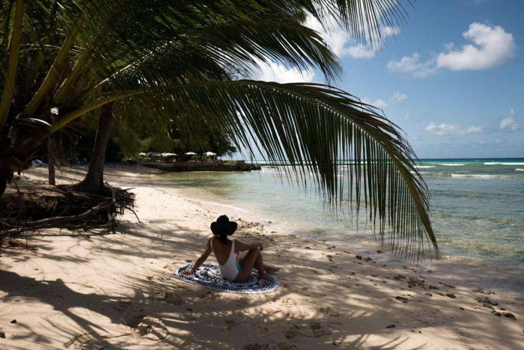Nadia El Ferdaoussi RTW world tour around the world travel blogger writer journalist Savannah Beach Barbados