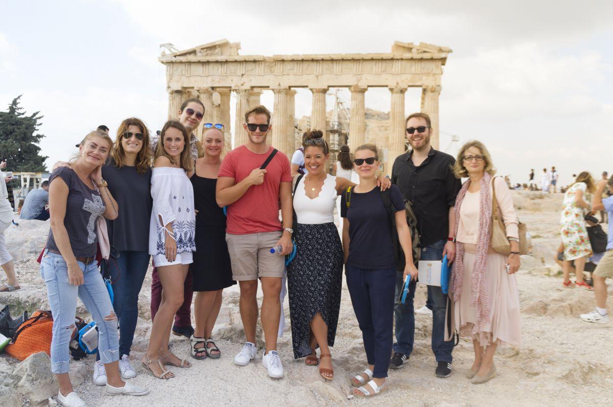 Tourist photo, Acropolis Athens Greece