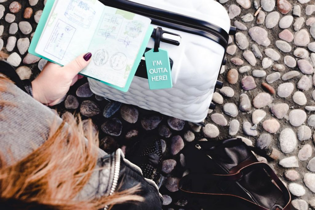 Packing tips pro travel blogger Nadia El Ferdaoussi the daily self Penneys Primark suitcase luggage tag passport cover