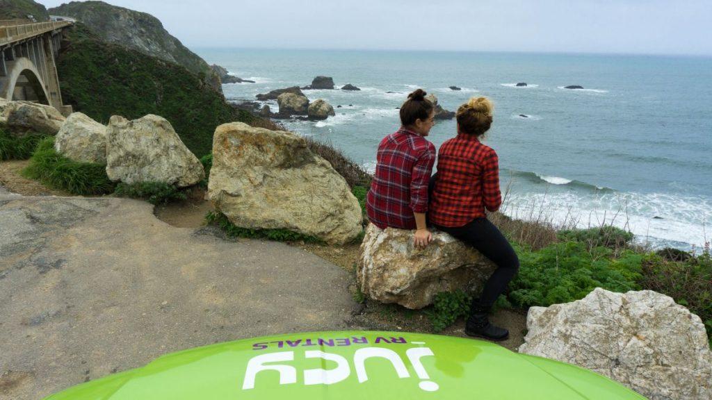 California road trip Nadia El Ferdaoussi JUCY campervan travel blogger Cali America