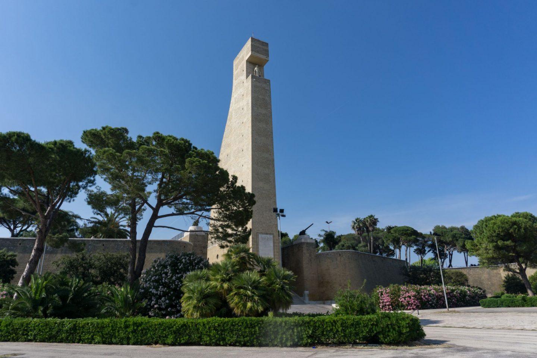 Nadia El Ferdaoussi, the daily s'elf, Brindisi, Puglia. Travel in Italy National Sailors Monument Memorial