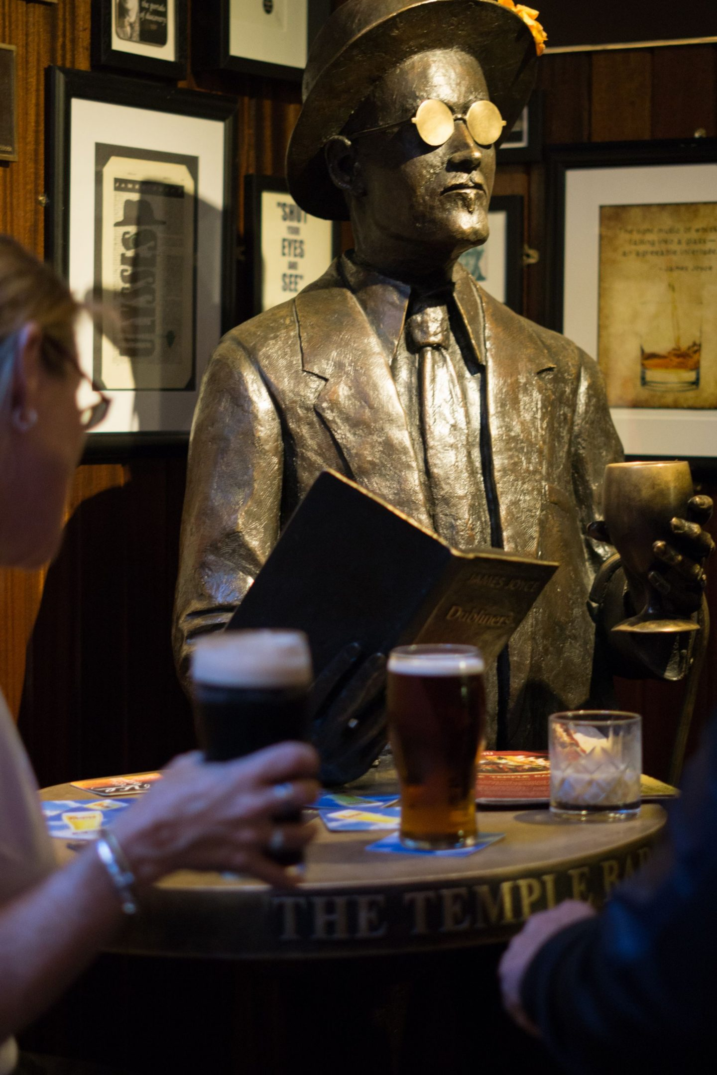 Staycation Tourist at Home Nadia El Ferdaoussi Things to do in Dublin Ireland Temple Bar Pubs James Joyce