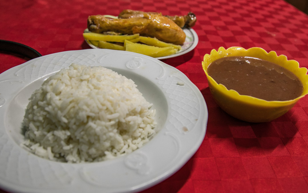 Real casa paladar food, authentic Cuban family meal