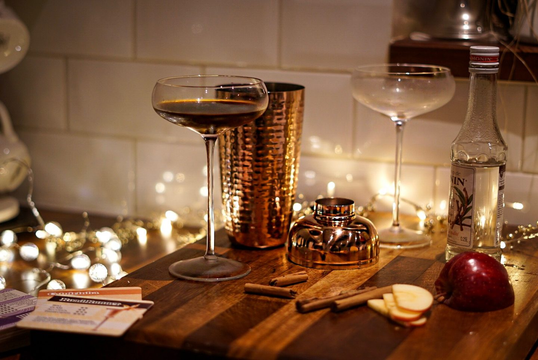 TK maxx espresso martini glasses and cocktail shaker