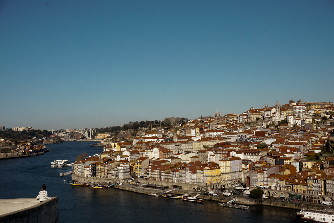 View from Gaia side of the Douro river in Porto