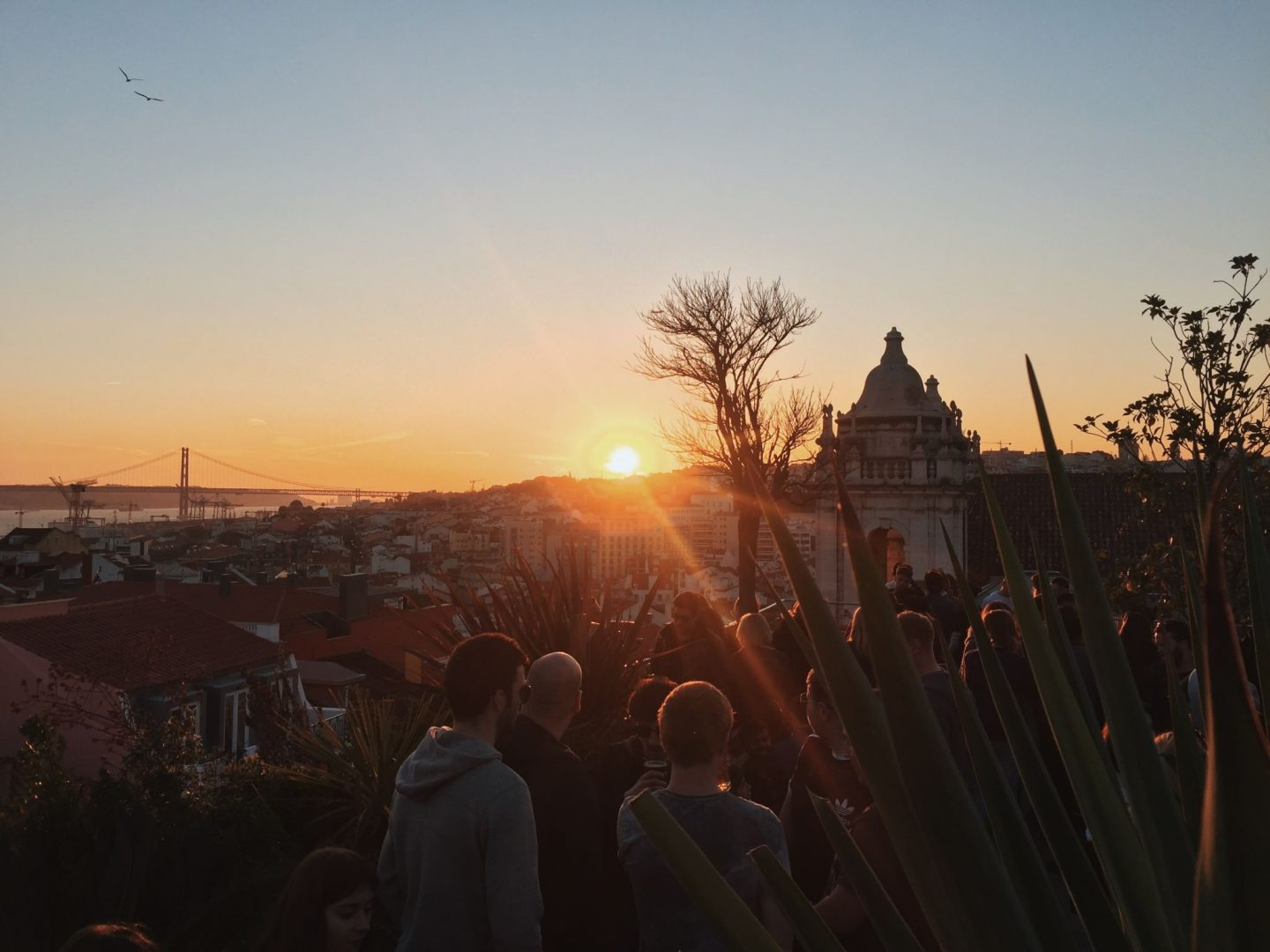 Park Bar sunset view Lisbon