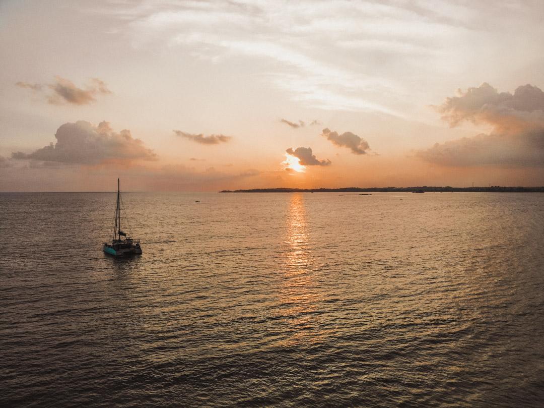 Sunset BBQ beach dinner G Adventures Sri Lanka South Coast sailing trip Weligama