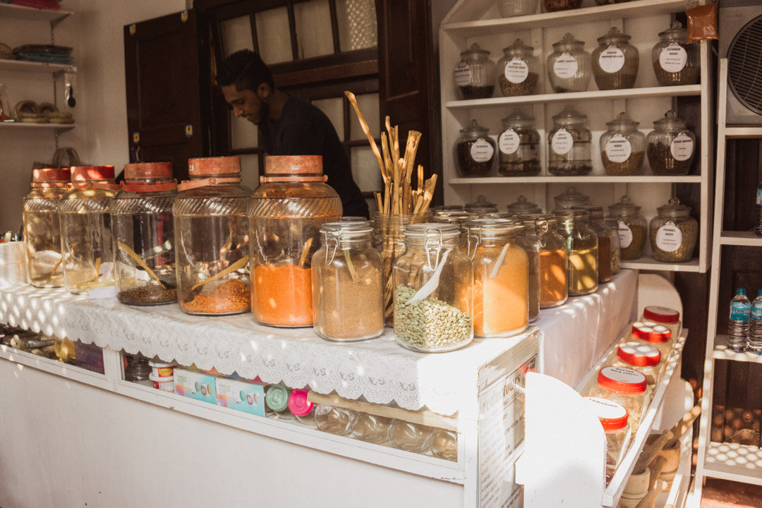 Galle fort spice shop, Sri Lanka south coast