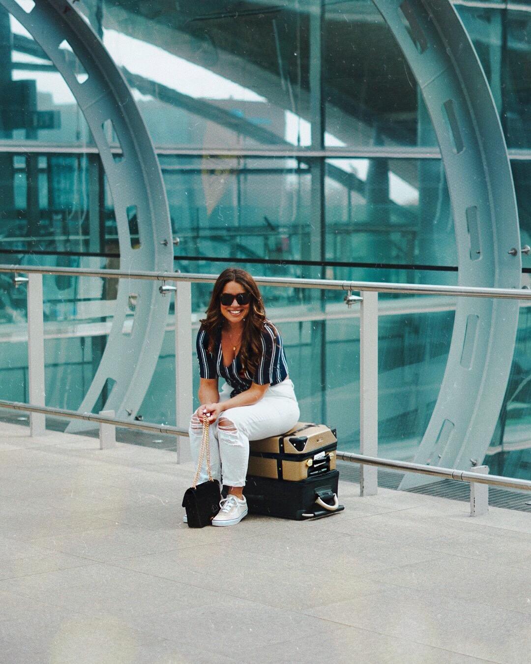 Nadia Dublin airport holiday wardrobe