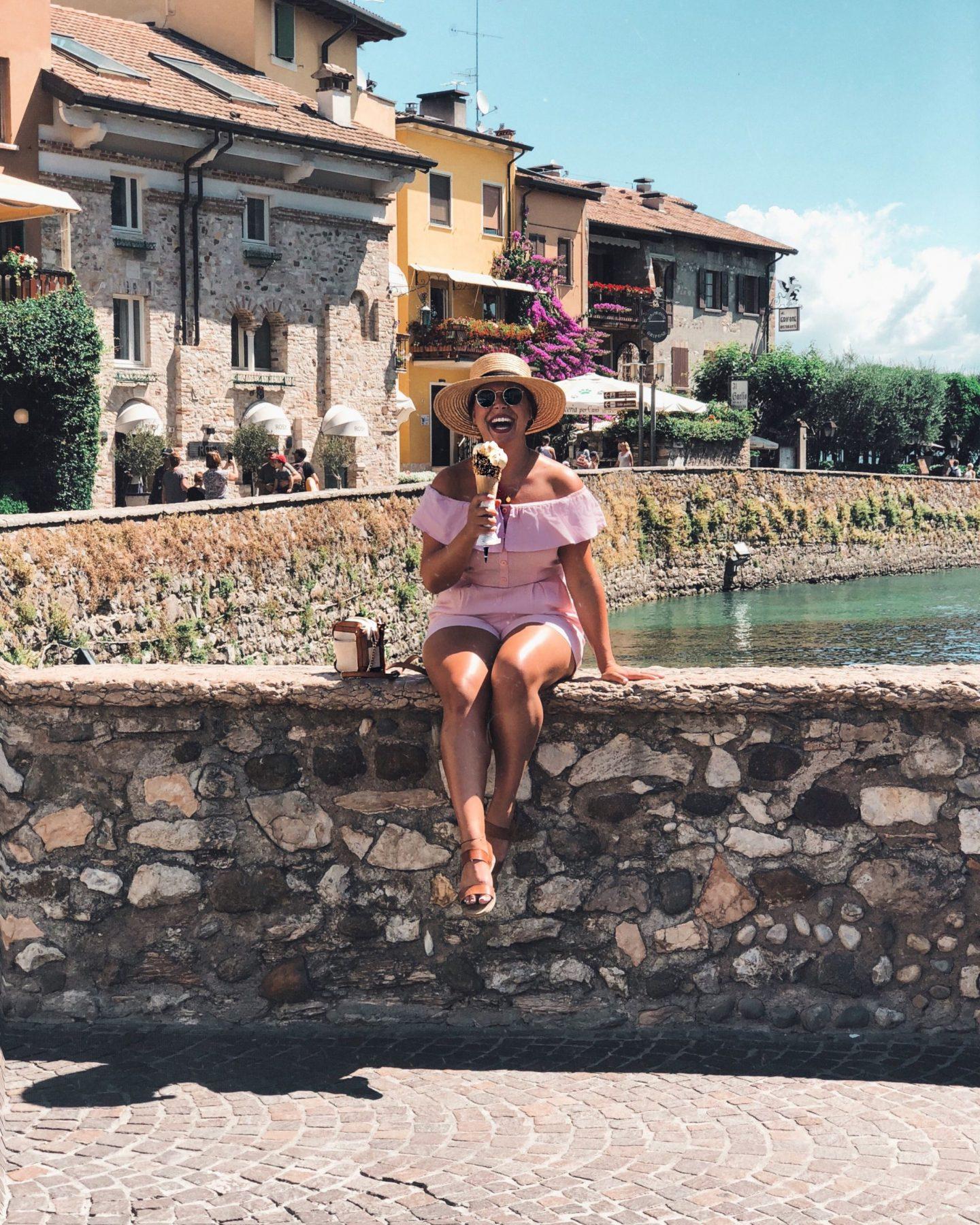 Gelato Lake Garda Guide Nadia El Ferdaoussi at Sirmione