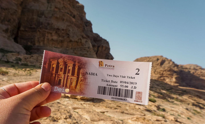 ticket petra jordan gadventures trip